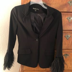 Elizabeth and James Feathered Blazer